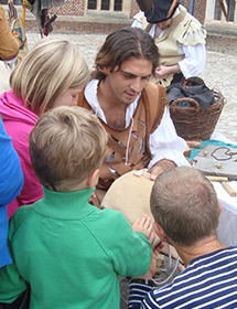 Leather working with children
